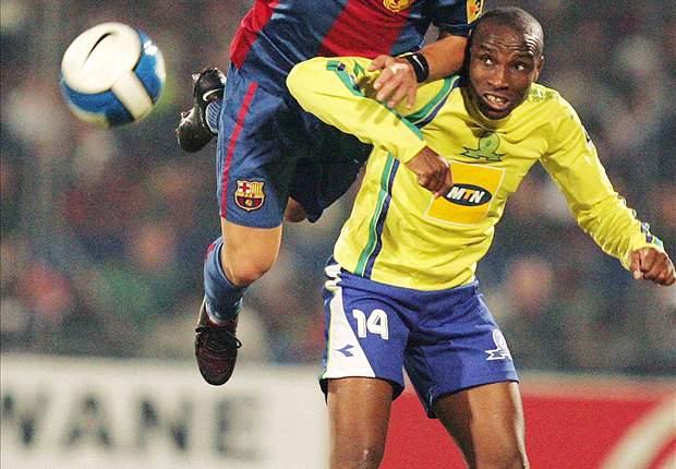 Surprise Moriri in action against Barcelona
