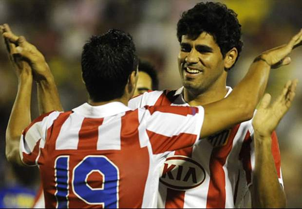 Atletico Madrid 1-0 Real Zaragoza: Diego Costa goal enough for 10-man Colchoneros as Jose Antonio Reyes sees red