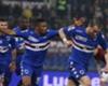 Sampdoria defender celebrates his goal with team-mate Samuel Eto'o