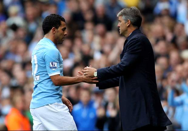 Manchester City boss Roberto Mancini warns Carlos Tevez: If you are not fit to play Tottenham you will not play in FA Cup final