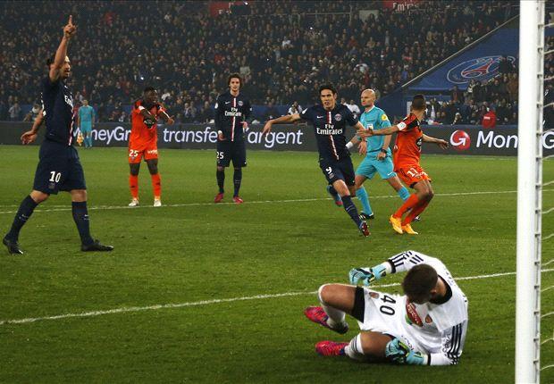 Paris Saint-Germain 3-1 Lorient: Ibrahimovic hat-trick rescues three points for champions