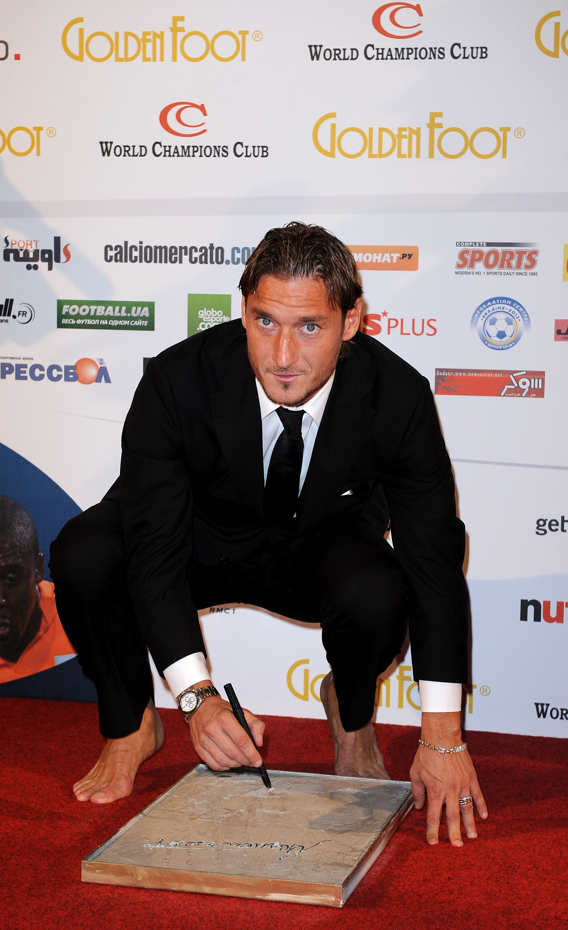 Francesco Totti - Golden Foot (Getty Images)