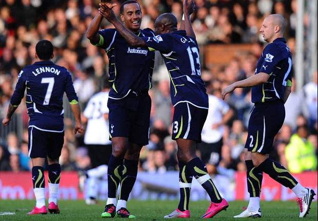 Fulham 1-2 Tottenham: Controversial Huddlestone strike seals comeback as Spurs leap into joint second place in Premier League