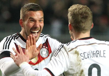 Podolski strikes to rescue Germany