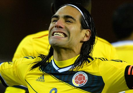 Falcao scores twice for Colombia