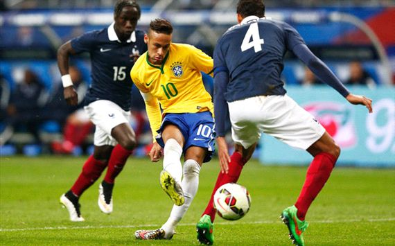 Neymar France Brazil 260315