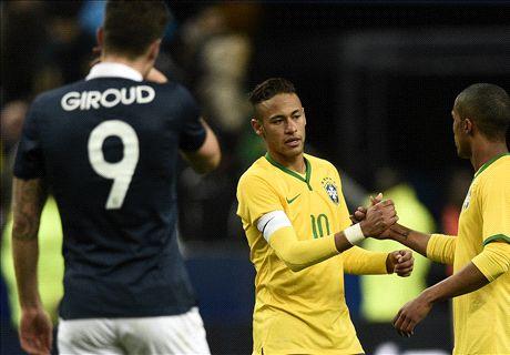 Neymar on target as Brazil beat France