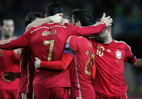 Morata fires Spain past Ukraine