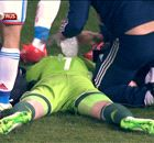 In Pics: See Akinfeev hit by a flare