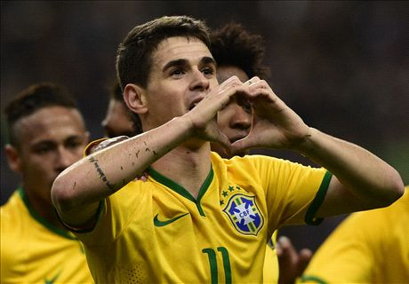 Oscar left out of Brazil squad