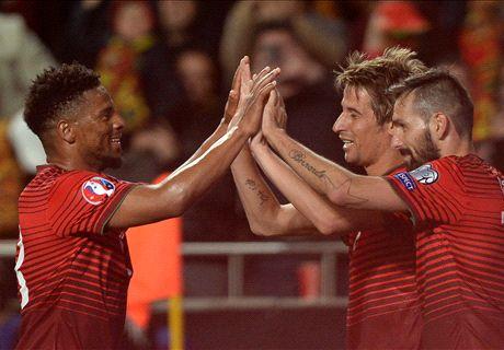 Coentrao sends Portugal top