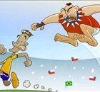 Cartoon: Medel-ing Neymar stomped out