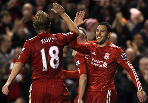 Liverpool 3-0 West Ham United: Travelling Fans Call For Grant To Go As Johnson, Kuyt And Maxi Strike In First Half
