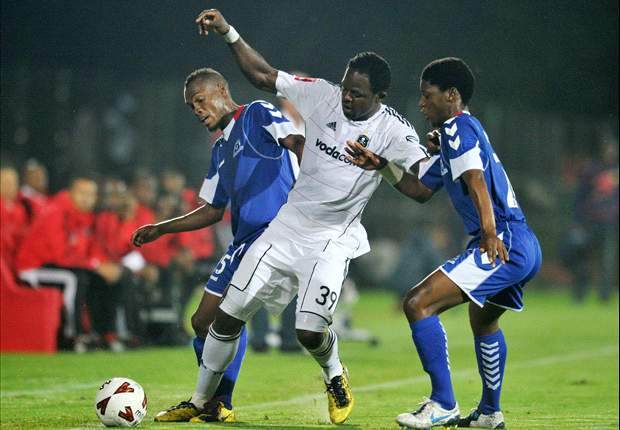 Namibia's Rudolph Bester training with Orlando Pirates