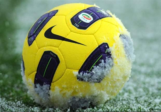 Effetto neve sulla A, a forte rischio Bologna-Fiorentina. Si teme per il derby di Milano