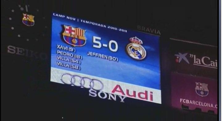 el clasico historical 5 0 barcelona vs real madrid