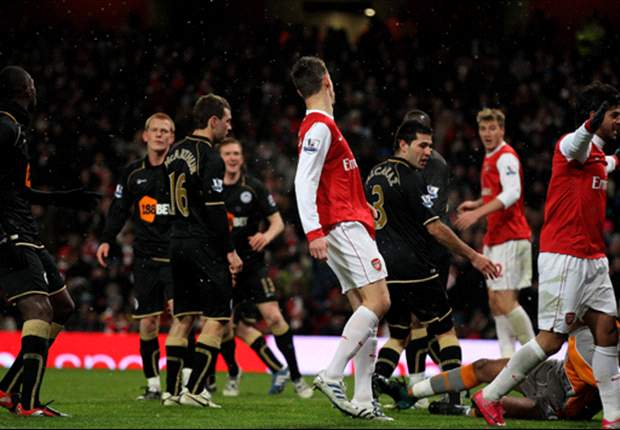 Arsenal 2:0 Wigan Athletic: Bendtner Strike Steers Gunners To Semifinals