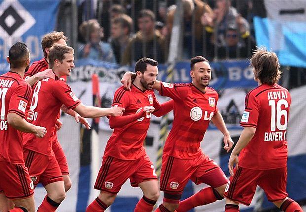 Leverkusen siegt mit 4:0 gegen den Hamburger SV