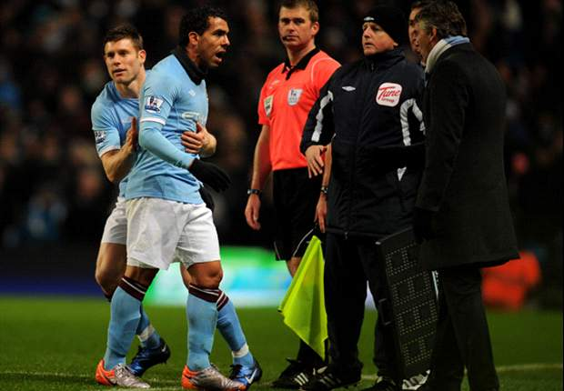 Manchester City defender Micah Richards claims Carlos Tevez will stay until end of season