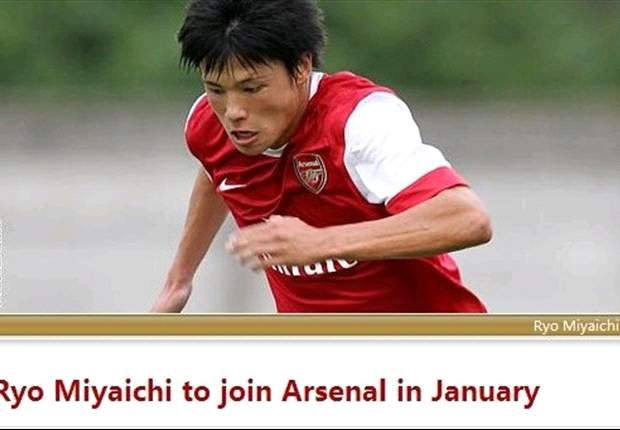 Arsenal new-boy Ryo Miyaichi unconcerned by comparisons to Cristiano Ronaldo