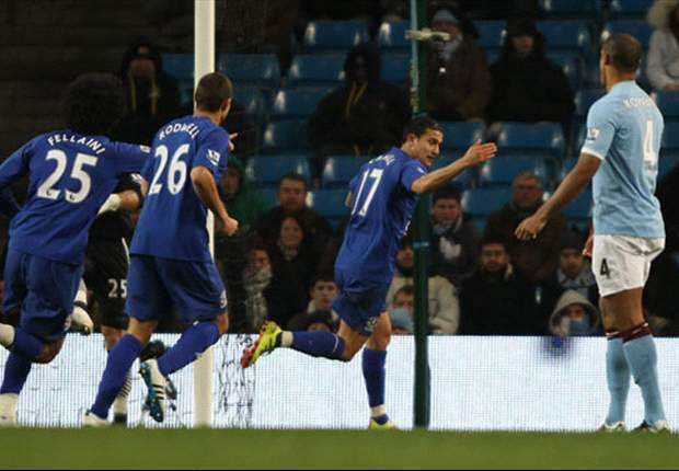 Everton midfielder Tim Cahill hails 'massive' achievement in beating Manchester City