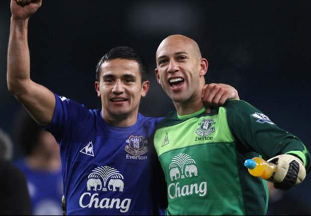 Everton midfielder Tim Cahill insists money will not guarantee Manchester City success