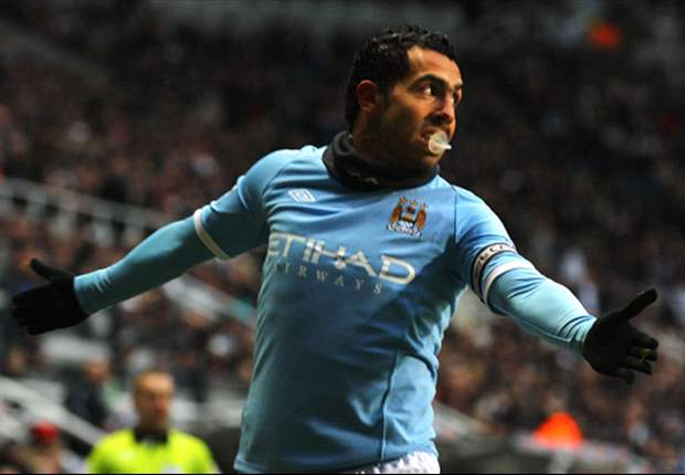 Newcastle United 1-3 Manchester City: Tevez Scores To Keep Mancini's Side Second