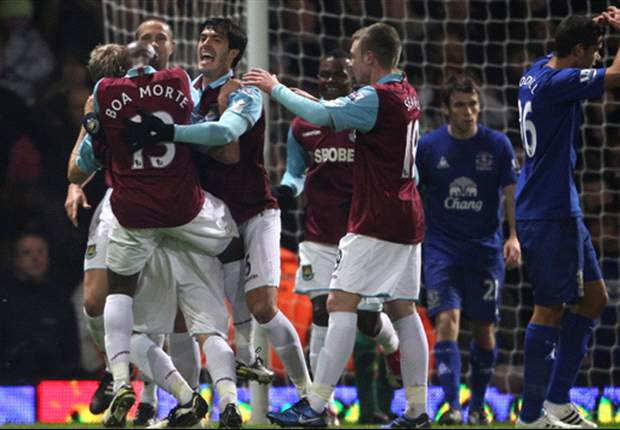 West Ham 1-1 Everton: Hammers remain in drop zone despite continuing timely upturn in form for Avram Grant
