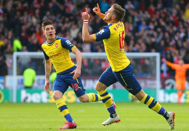 Burnley 0-1 Arsenal: Ramsey on target as Wenger's men march on