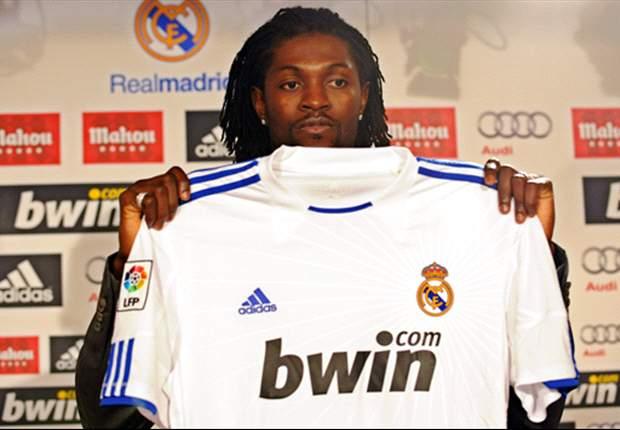 Emmanuel Adébayor désigne l'homme à la base de son départ du Real Madrid