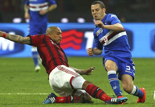 AC Milan 1-1 Sampdoria: De Jong rescues point for Rossoneri