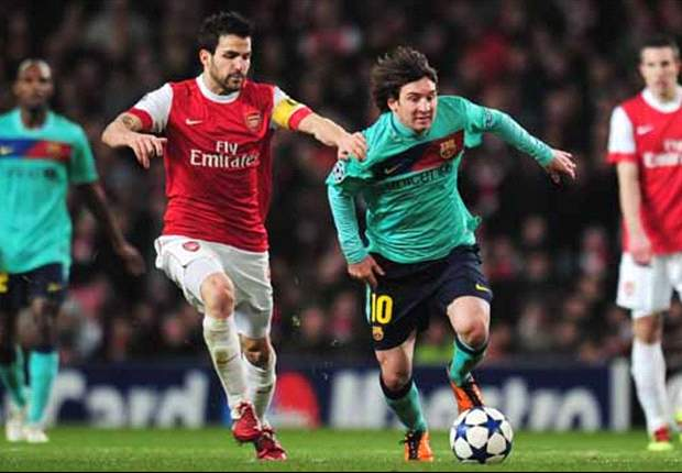 Follow the Champions League LIVE! with Goal.com at the Nou Camp for Barcelona - Arsenal