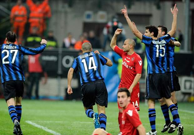 Inter 1-0 Cagliari: Controversial Andrea Ranocchia Goal Seals Victory For Leonardo's Side