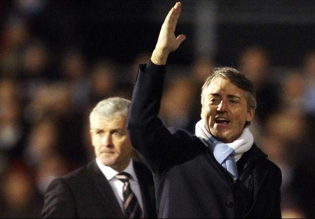 Mancini denies personal battle with former Manchester City boss Hughes