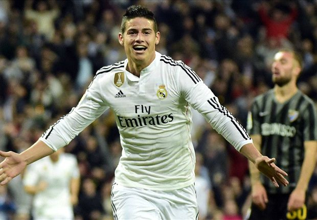 Real Madrid 3-1 Malaga: James, Ramos & Ronaldo on target to keep pressure on Barcelona