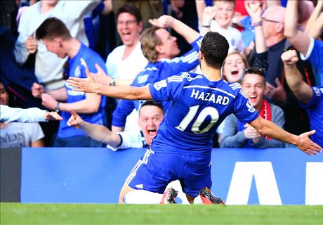 Hazard pushes Chelsea closer to title