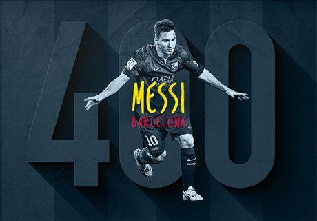 Galeria: 400 vezes Messi