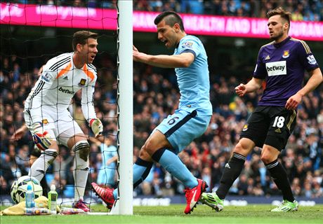 Aguero stars as Man City respond