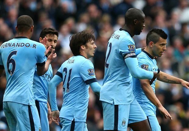 Manchester City 2-0 West Ham: Silva stretchered off as Aguero seals win