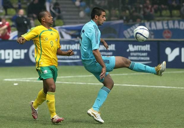 SuperSport United striker Kermit Erasmus in action