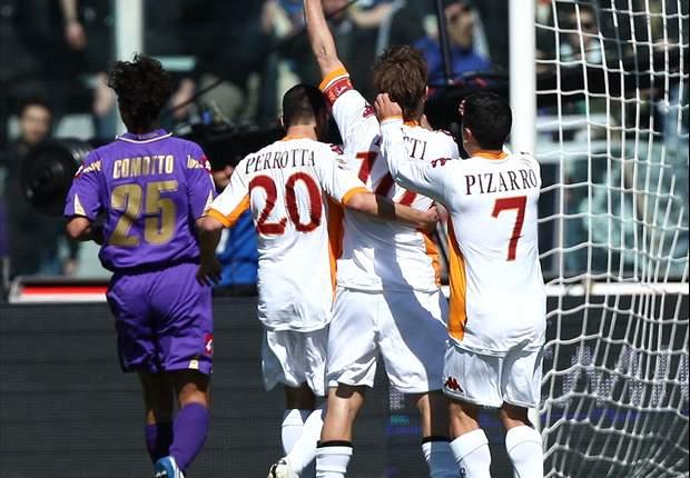 Fiorentina 2-2 Roma: Totti Reaches 200-Goal Serie A Landmark As Roma Salvage Draw In Tuscany