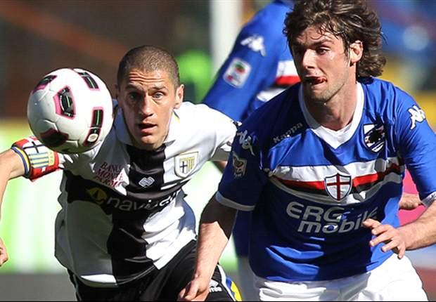 Sampdoria-Parma 0-1: Il goal di Zaccardo pesa come un macigno sulla corsa salvezza, disastro Maccarone dal dischetto