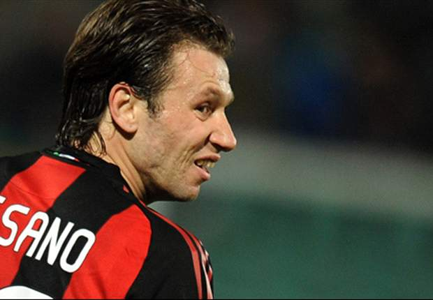 AC Milan's Antonio Cassano becomes a father