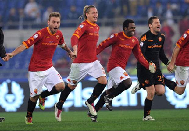 Roma 1-0 Chievo: Simone Perrotta goal keeps Champions League hopes alive for Vincenzo Montella's side