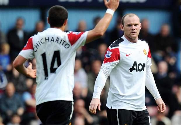 Wayne Rooney Gemilang, Manchester United Menang