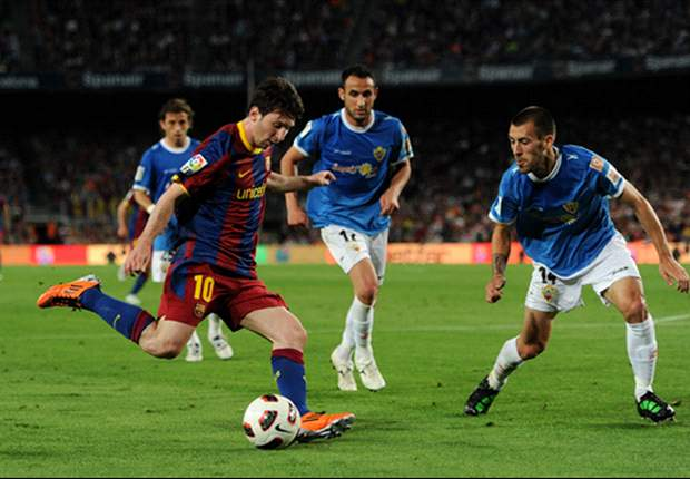 Barcelona star Lionel Messi equals Spanish football record of 48 goals in a single season