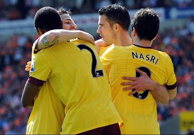 Blackpool 1-3 Arsenal: Van Persie inspired win keeps Gunners in title chase