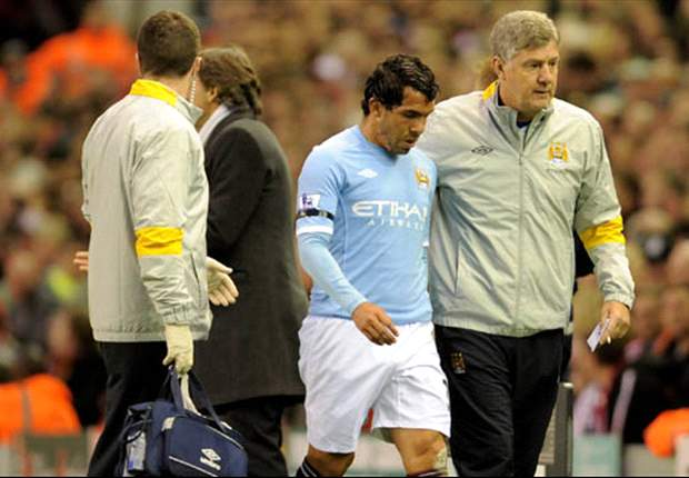 'It will be very difficult for Carlos Tevez to be fit for FA Cup semi-final after hamstring injury' - Manchester City boss Roberto Mancini