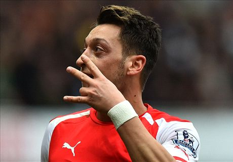 Ozil clocks up special cup final assist