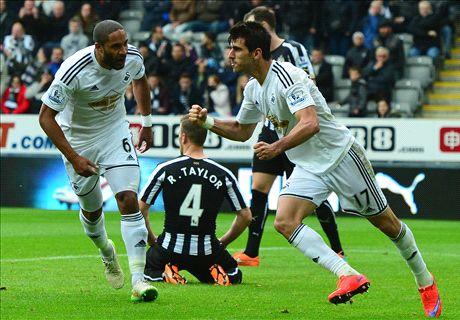 LIVE: Newcastle 2-3 Swansea